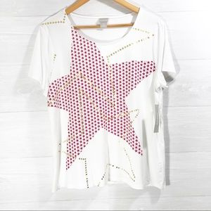 NWT Chico's Soft Short Sleeve T-Shirt Top size 2/L
